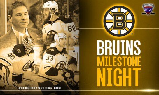 Bruins Complete Milestone Night