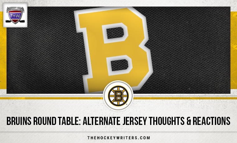 Bruins Round Table: Alternate Jersey Thoughts & Reactions