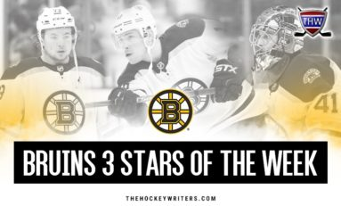 Bruins 3 Stars of the Week: Oct. 3-5