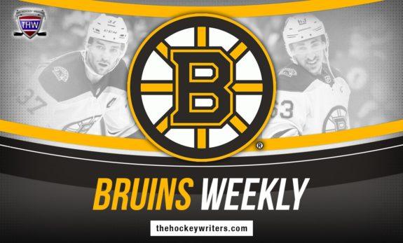 Boston Bruins Weekly Patrice Bergeron Brad Marchand