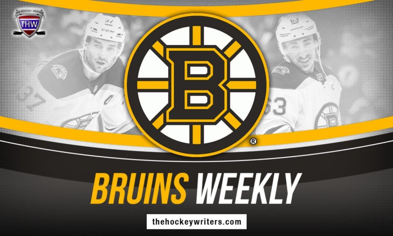 Boston Bruins Weekly Patrice Bergeron Brad Marchand