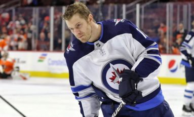 Jets' Little Hospitalized After Being Struck near the Ear by Puck