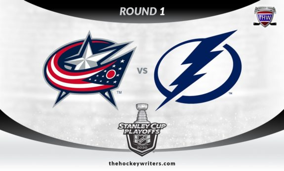 2020 Stanley Cup Playoffs Round 1 Columbus Blue Jackets vs Tampa Bay Lightning