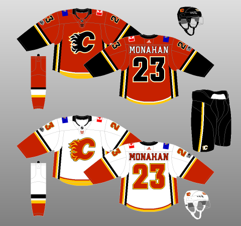 d029a224b Calgary Flames Jersey History