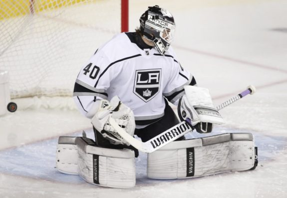 Los Angeles Kings goalie Calvin Petersen