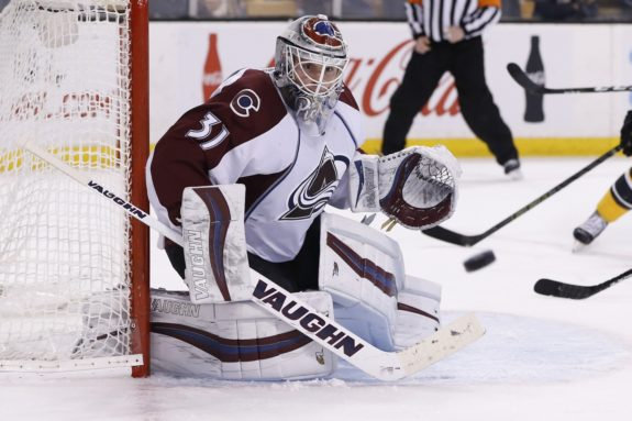 (Greg M. Cooper-USA TODAY Sports) Calvin Pickard is currently battling Semyon Varlamov for playing time in Colorado, and he'd be in another battle if selected by Vegas.