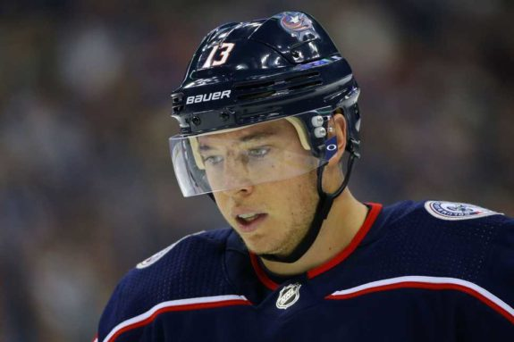 Columbus Blue Jackets right wing Cam Atkinson