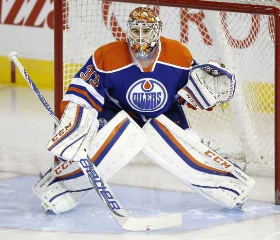 Cam Talbot of the Edmonton Oilers