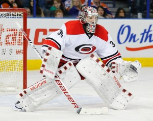 Goalie Cam Ward of the Carolina Hurricanes.