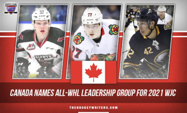 Canada Names All-WHL Leadership Group For 2021 WJC