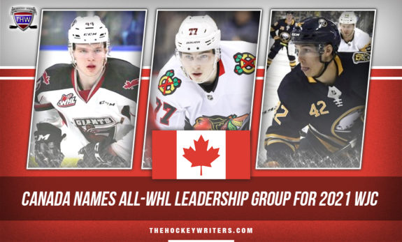 Canada Names all-WHL Leadership Group For 2021 WJC Kirby Dach and Bowen Byram and Dylan Cozens