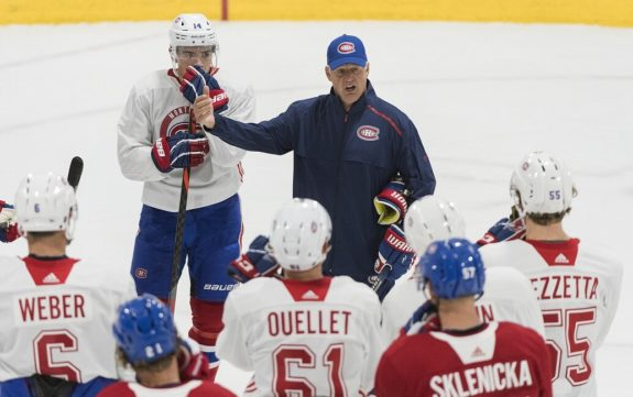 Montreal Canadiens head coach Claude Julien training camp