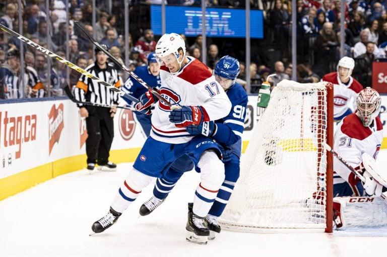 Montreal Canadiens Brett Kulak Toronto Maple Leafs John Tavares