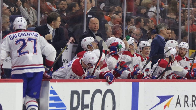 Canadiens bench