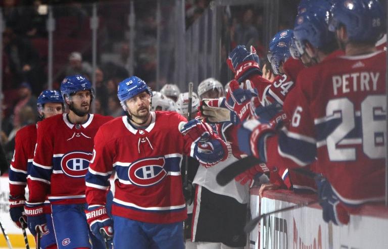 Tomas Tatar Canadiens bench