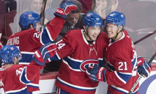 Cousins Scores Twice, Canadiens Edge Golden Knights 5-4
