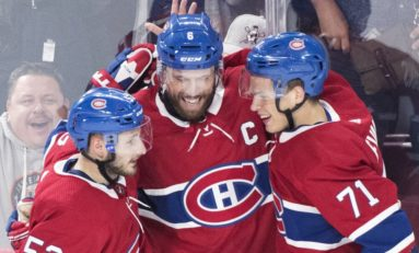 Canadiens' Evans Scores Late Goal to Defeat Devils