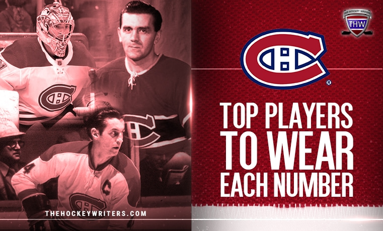 Top players to wear each number for Montreal Canadiens