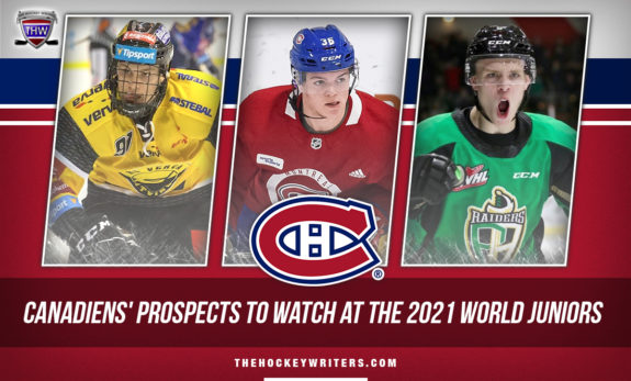 Montreal Canadiens' Prospects to Watch at the 2021 World Juniors