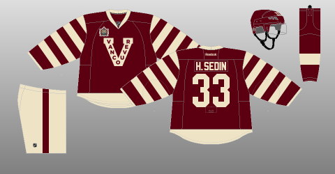 Vncouver Canucks 2014 Heritage Classic uniform