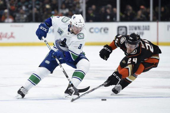 Anaheim Ducks Carter Rowney Vancouver Canucks J.T. Miller
