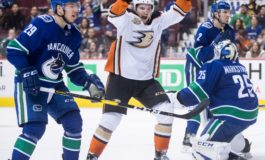 Ducks Survive Canucks Surge - Steel Gets 1st Hat Trick