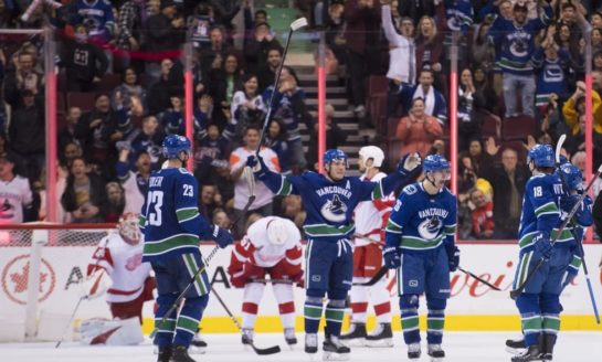 Canucks Cover Red Wings in Pettersson's Return