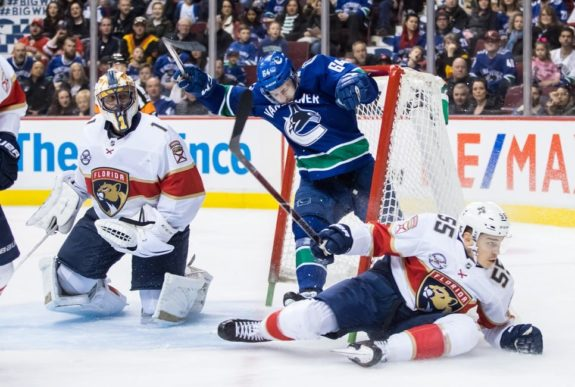 Vancouver Canucks Tyler Motte Florida Panthers Roberto Luongo