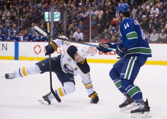 Vancouver Canucks Erik Gudbranson Buffalo Sabres Kyle Okposo