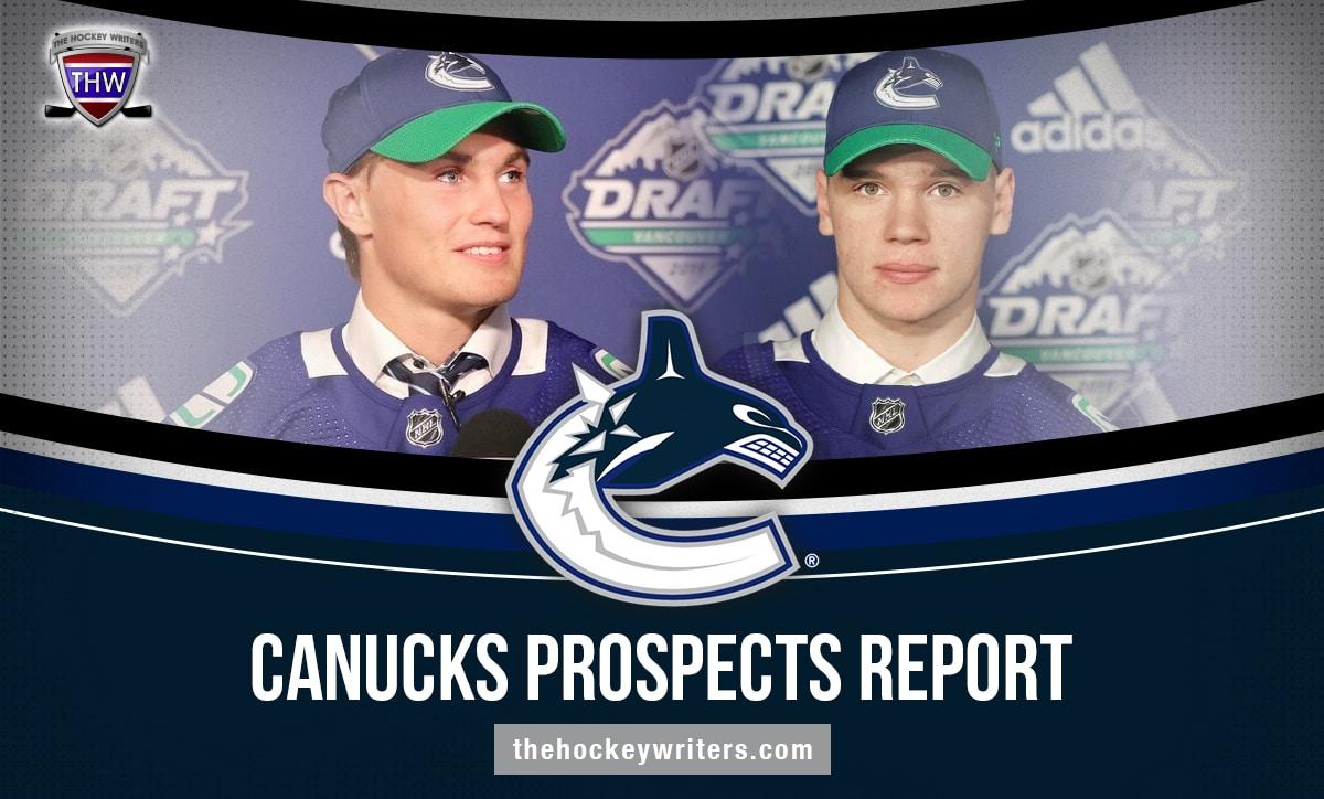 Vancouver Canucks Prospects Report Podkolzin and Hoglander
