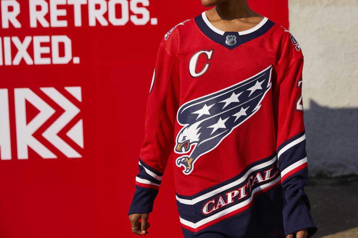 Washington Capitals Reverse Retro jersey