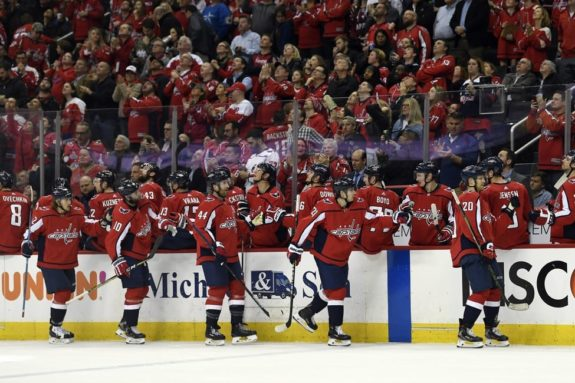 Washington Capitals bench