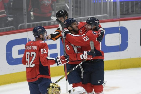 Washington Capitals Nicklas Backstrom Alex Ovechkin Evgeny Kuznetsov