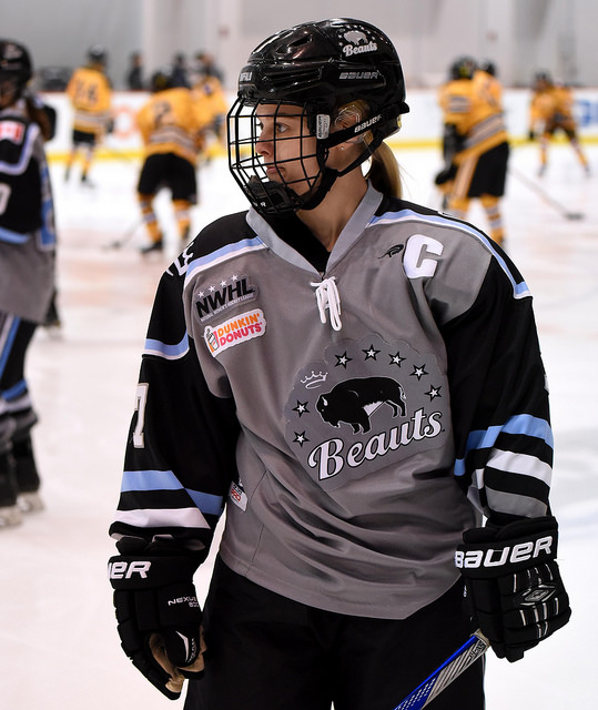 Buffalo Beauts captain Emily Pfalzer (Photo Credit: Troy Parla)