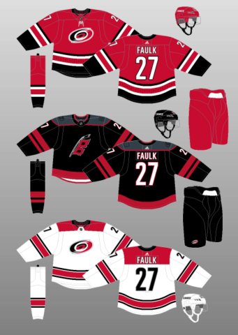 Carolina Hurricanes 2018-Present Jerseys