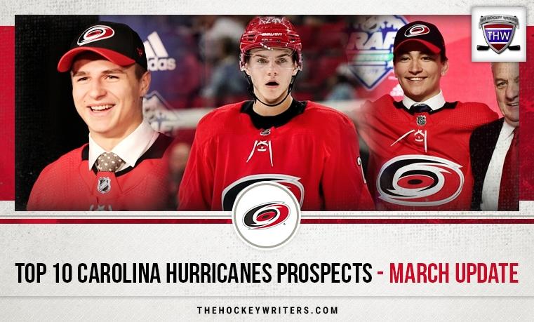 Top 10 Carolina Hurricanes Prospects - March Update Jake Bean, Ryan Suzuki, and Jamieson Rees