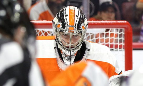 Flyers' Game 1 Win Comes on Carter Hart's Shoulders