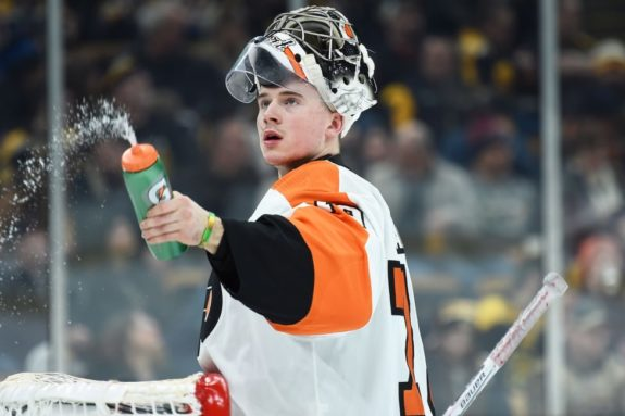 Flyers goaltender Carter Hart