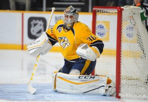 Carter Hutton of the Nashville Predators will likely become a free agent.