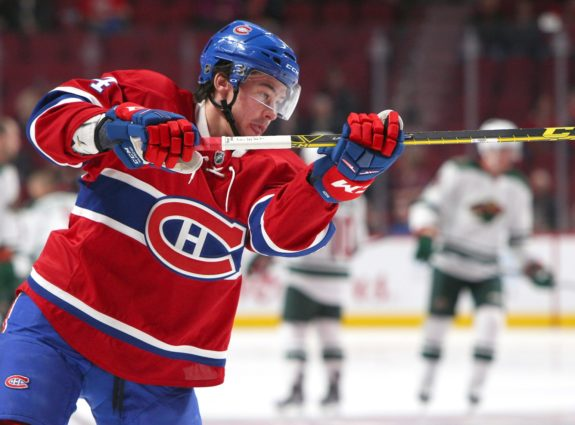 Montreal Canadiens forward Charles Hudon