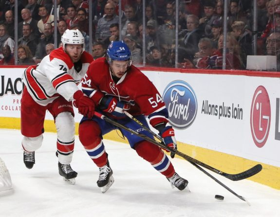 Montreal Canadiens left wing Charles Hudon