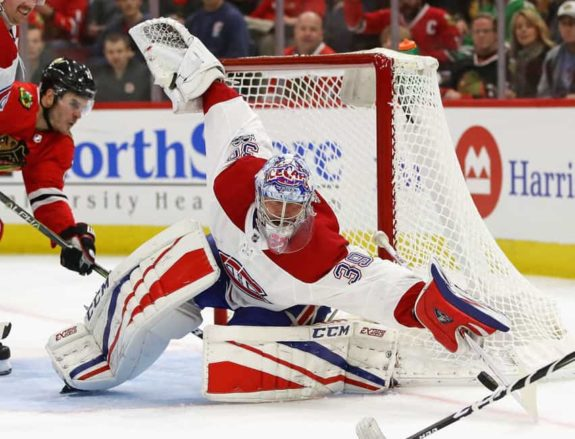Montreal Canadiens goalie Charlie Lindgren