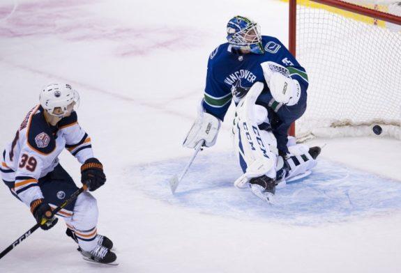 Edmonton Oilers Alex Chiasson Vancouver Canucks Jacob Markstrom