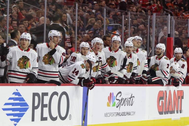Chicago Blackhawks bench