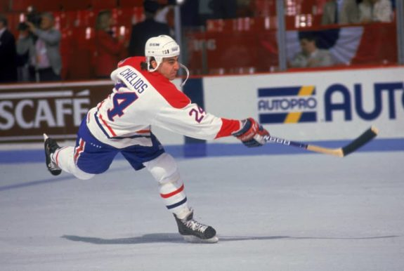 Chris Chelios of the Montreal Canadiens