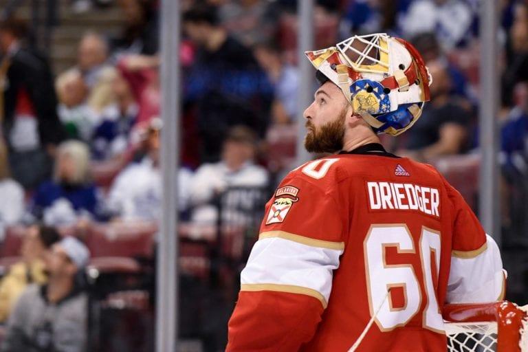 Panthers goaltender Chris Driedger