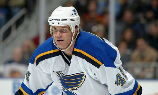 Blues Send Pronger to the Rafters