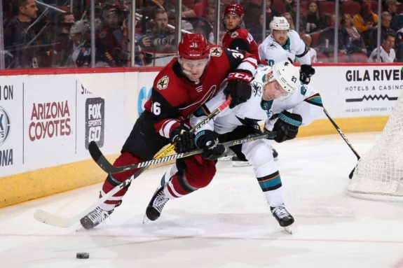 Christian Fischer #36 of the Arizona Coyotes