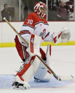 Ohio State goalie Christian Frey. Photo: Ric Kruszynski/Ohio State Athletics