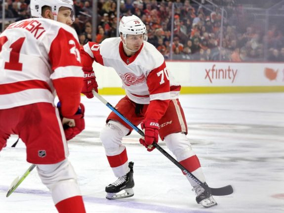 Christoffer Ehn of the Detroit Red Wings